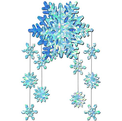 Prismatic Hanging 3-D Snowflake Mobile - 22""