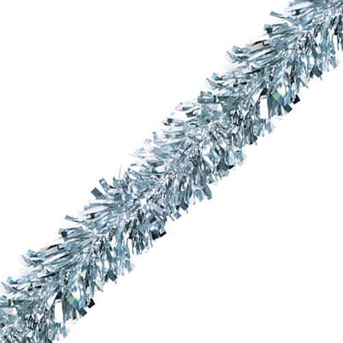 Silver Luxury Tinsel Garland - 6 Ply - 4.6m