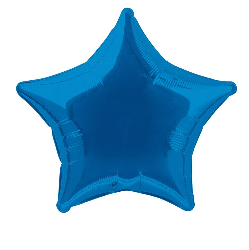 Blue Star Shaped Balloon - 19""
