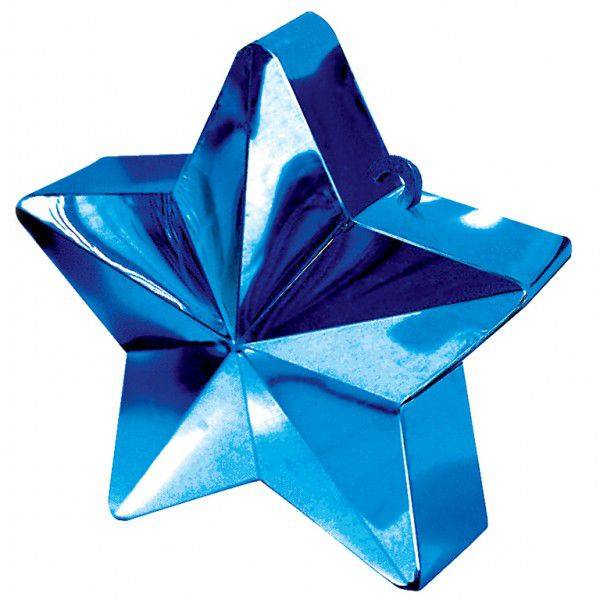 Blue Star Balloon Weight - 6oz - 10cm