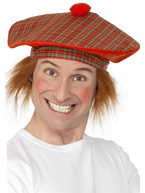 Tam O' Shanter Jumbo Hat with Ginger Hair