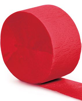 Red Crepe Paper Streamer - 25m