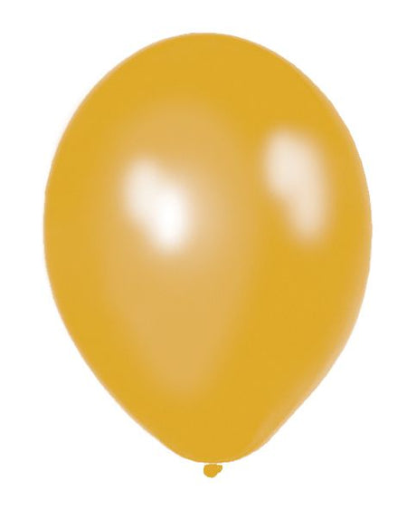 Gold Metallic Latex Balloons - 12