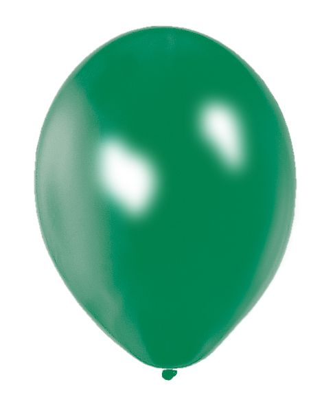 "Emerald Green Metallic Latex Balloons - 12"" - Pack of 50"