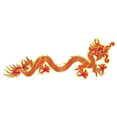 Chinese Dragon Jointed Cutout Wall Decoration - 92cm