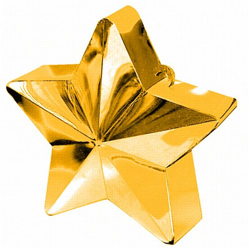 Gold Star Balloon Weight - 6oz - 10cm