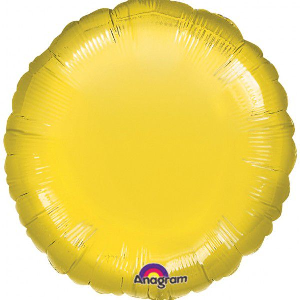 Yellow Round Foil Balloon - 18""