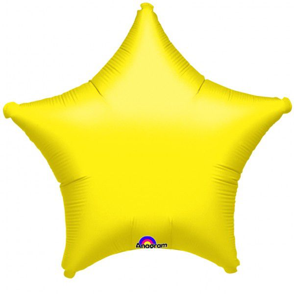Yellow Star Foil Balloon 19""