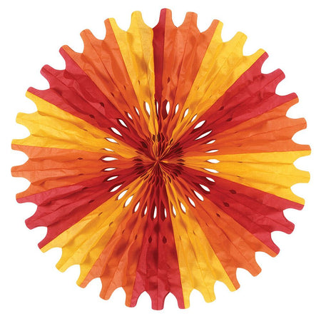 Red, Orange & Yellow Paper Fan - 63.5cm