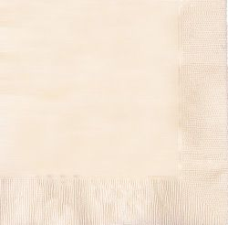 Vanilla Cream (Ivory) Luncheon Napkins 33cm - pack of 50