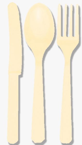 Vanilla Cream (Ivory) Cutlery - Pack of 24
