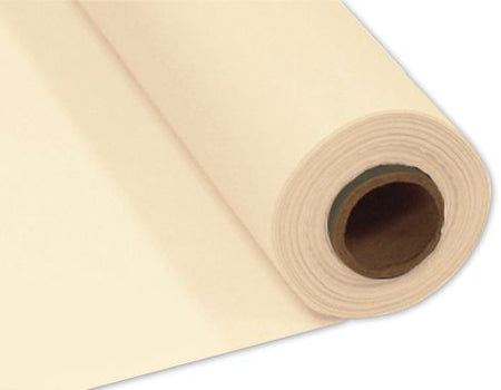 Vanilla Cream (Ivory) Plastic Table Roll - 30.5m x 1m