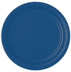 Navy Blue Paper Plate - Each - 9""