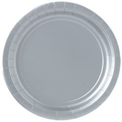 Silver Paper Plates - Each - 9""