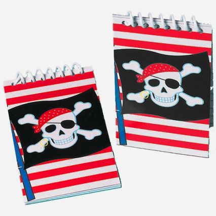 Pirate Notebook - Pack of 12