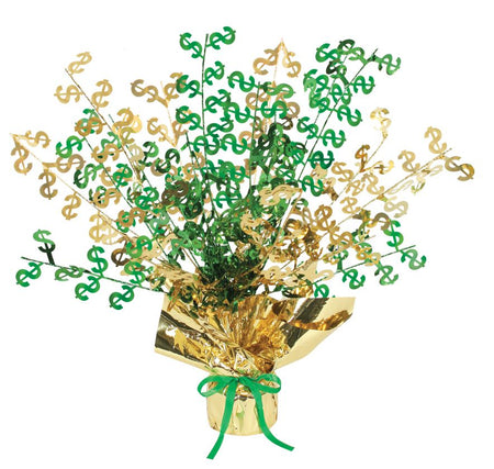 Click to view product details and reviews for American Dollar Foil Spray Centrepiece 38cm.