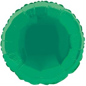 Green Round Foil Balloon - 18""