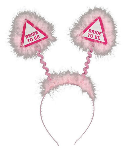 Bride To Be Warning Sign Head Boppers