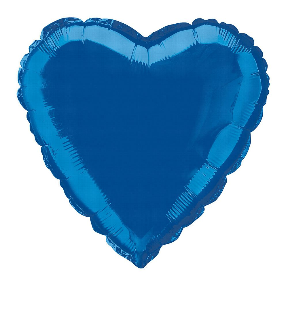 Blue Heart Shaped Foil Balloon. 18""