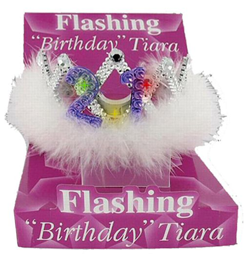 Flashing 21st Birthday Tiara