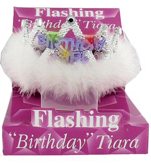 Flashing Birthday Girl Tiara