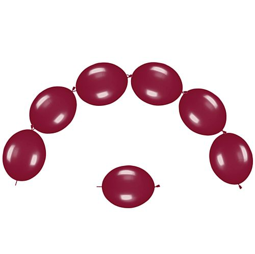 "Burgundy Metallic Link-O-Loons 12"" - Pack of 25"