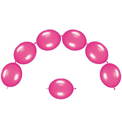 "Hot Pink Metallic Link-O-Loons 12"" - Pack of 25"