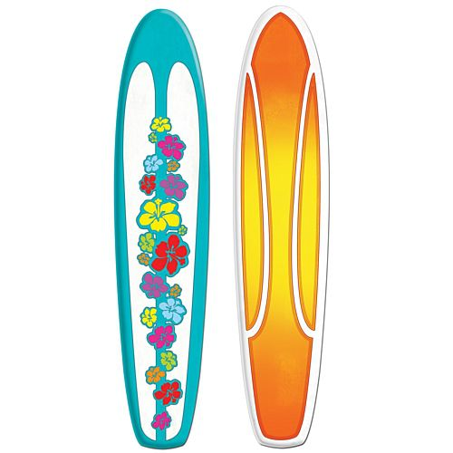 Surfboard Jointed Cutout Wall Decoration - 1.5m
