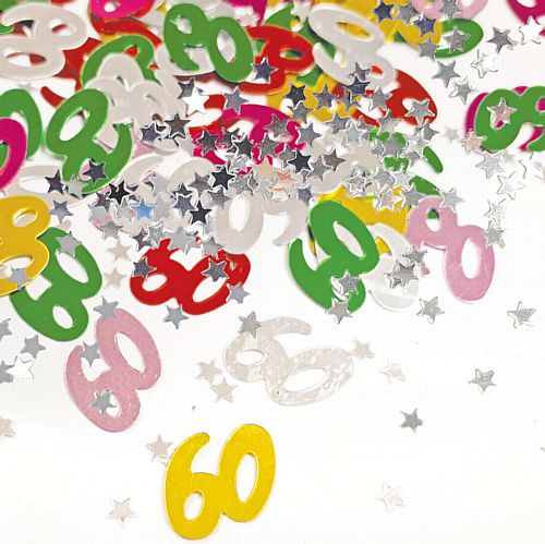 60th Birthday Age Confetti - 14g