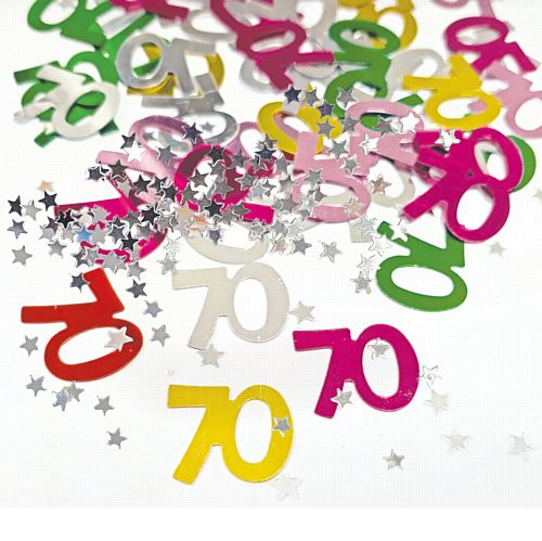 70th Birthday Age Confetti - 14g