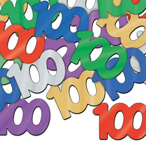 100th Birthday Age Confetti - 14g