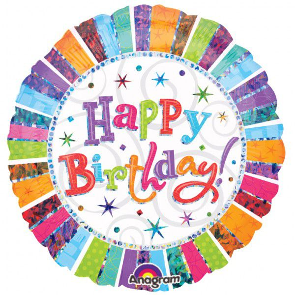 Radiant Birthday Foil Balloon - 18""