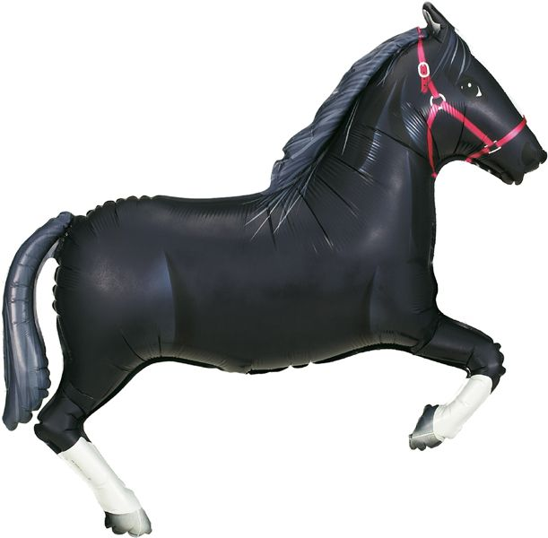 Black Horse Foil Balloon - 43""