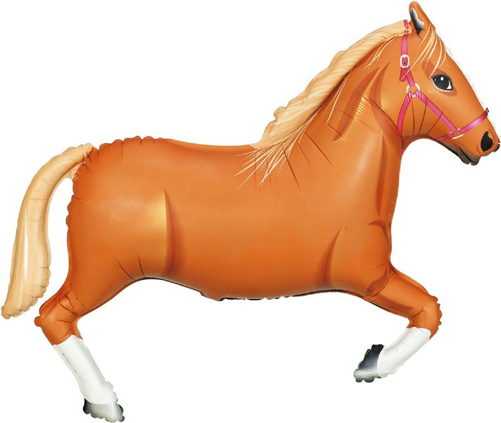 Light Brown Horse Foil Balloon 43""