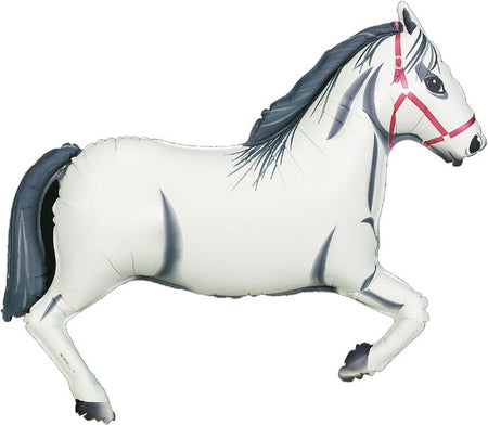 Click to view product details and reviews for White Horse Foil Balloon 43.