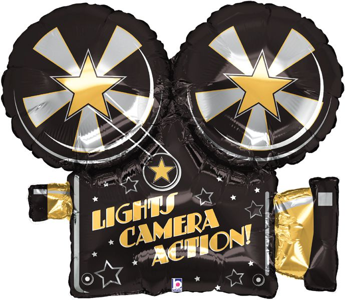 Lights Camera Action Foil Balloon 32""