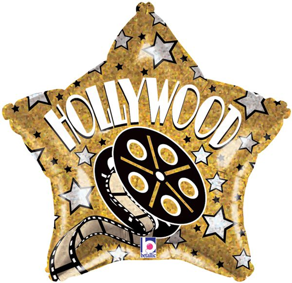 Hollywood Star Foil Balloon 19""