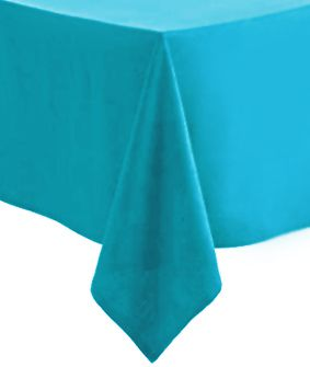 Turquoise Paper Tablecloth 1.4m x 2.8m