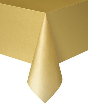 Gold Plastic Tablecloth 1.4m x 2.8m