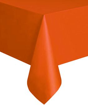 Bittersweet Orange Plastic Tablecloth - 1.4m x 2.8m