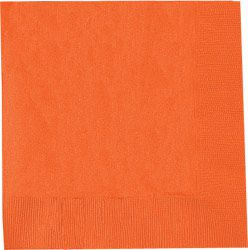Orange Dinner Napkins - Pack of 50 - 40cm