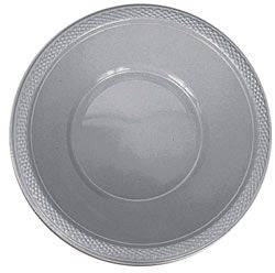 Silver Plastic Bowl 355ml - Pack of 20