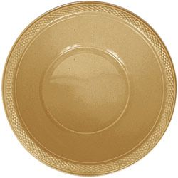 Gold Plastic Bowl 355ml - Pack of 20