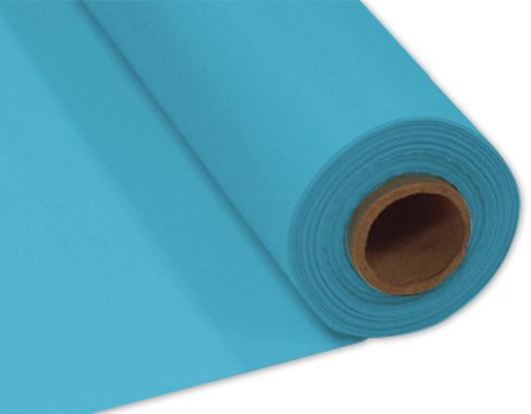Turquoise Plastic Table Roll - 30.5m x 1m