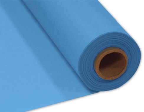 Light Blue Plastic Table Roll - 30.5m x 1m