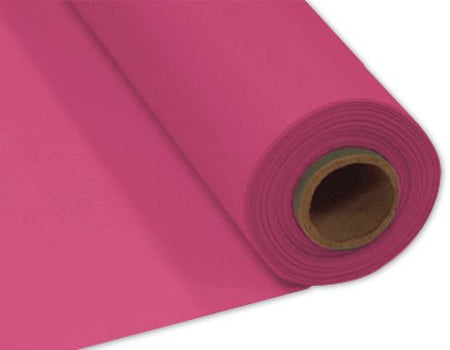 Hot Pink Plastic Table Roll - 30.5m x 1m
