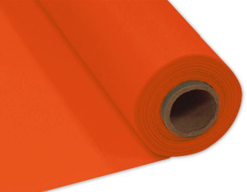 Orange Plastic Table Roll - 30.5m x 1m