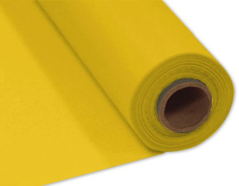 Yellow Plastic Table Roll - 30.5m x 1m