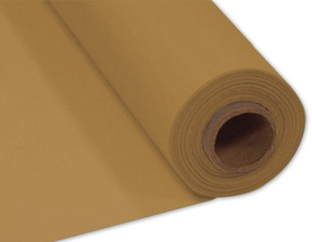 Gold Plastic Table Roll - 30.5m x 1m