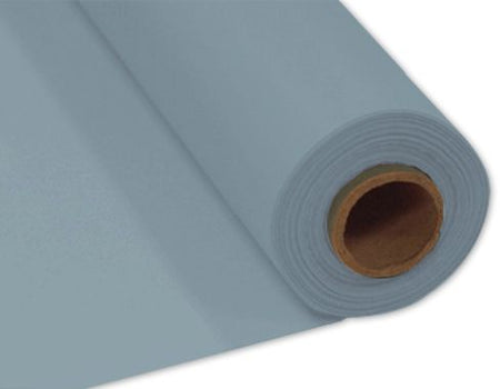 Matte Silver Plastic Table Roll - 30.5m x 1m